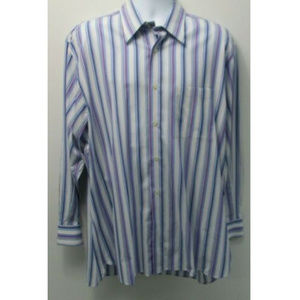 Ike Behar Mens Casual Button Down Shirt Size XL